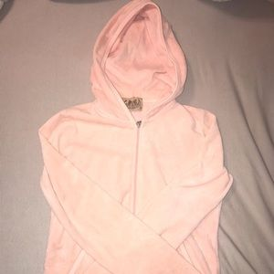 Pink Juicy Couture velour track jacket